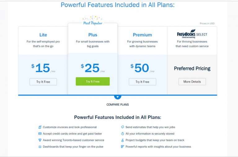 freshbooks pricing cloud accounting software